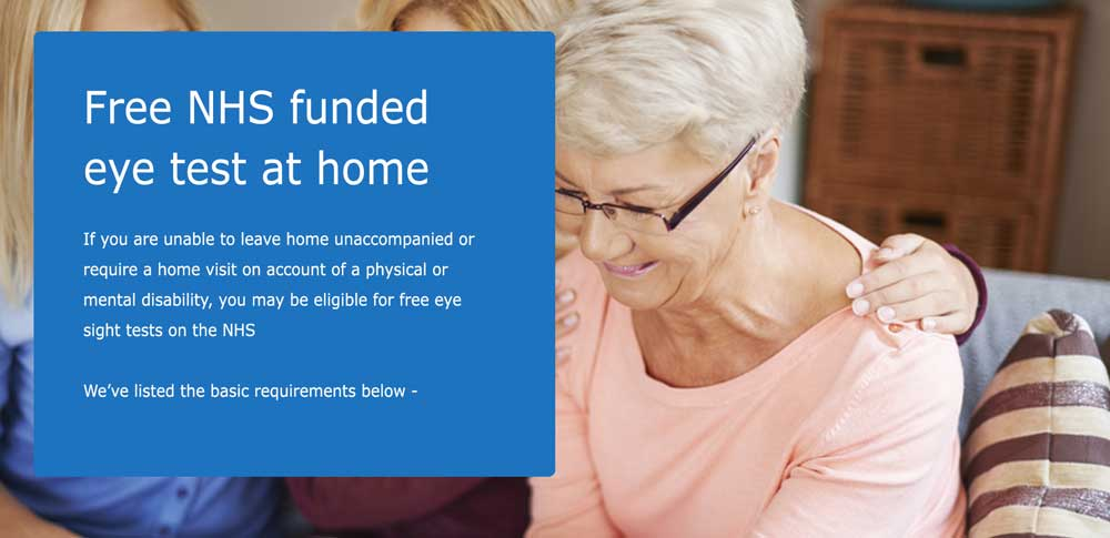 NHS Eye Test at Home | Contact Home Eyecare | Home Eyesight Test
