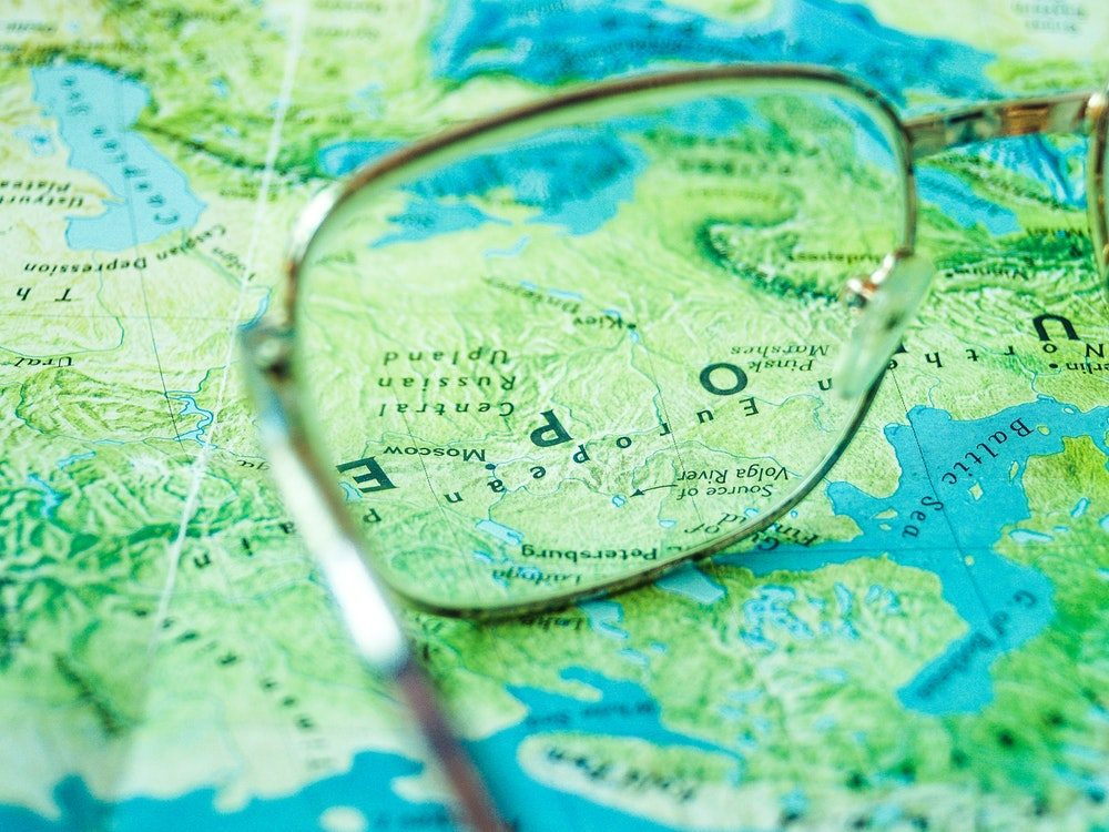 map with lenses and coatings for your spectacles